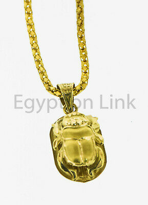Egyptian HallMark 18 K. Gold Charming pendant, Egypt Pharao's Luck Scarab beetel