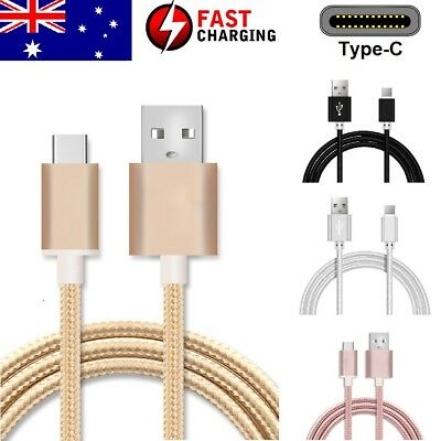 1M Braided Type C Cable USB C 3.1 FAST Charge For Samsung Huawei Xiaomi Google