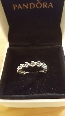 0b49fc345 Size 56 Pandora Sterling Silver 925 Stacking Daisy Flower Ring: ALE 925 56  (O