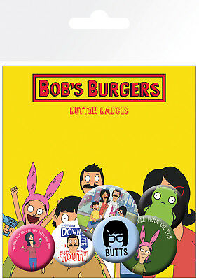 Bobs Burgers Mix TV Animated Series 6 Pin Assorted Badges Badge Pack