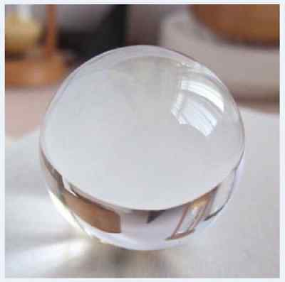50mm+stand Asian glass Clear Magic Crystal Healing Ball Sphere