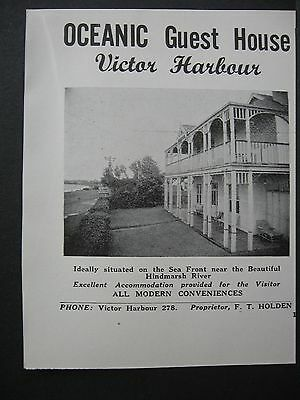 Oceanic Guest House Victor Harbour F T Holden