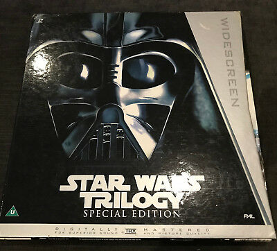 STAR WARS TRILOGY - 4 x Laser Disc Box Set - Special Edition - EE1232 - PAL