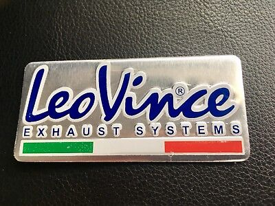 Leo Vince Exhaust Sticker Aluminium 3D Heat Proof Resistant Decal Ducati Ktm