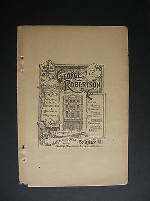 George Robertson & Co Booksellers 361 George St Sydney 1901 Advert