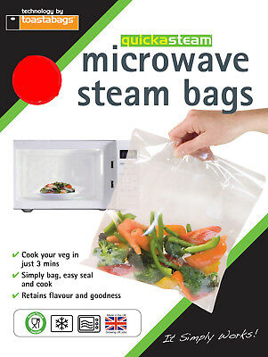 Microwave Steam Bags STANDARD 35 pk - quickasteam - healthy quick easy