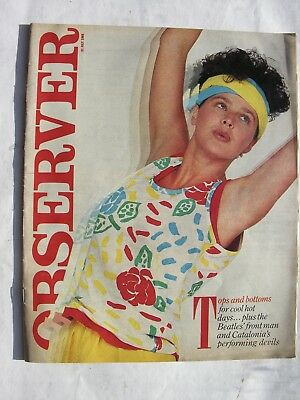 OBSERVER 21 July 1985 Derek Taylor Beatles Els Comediants Catalonia Serena Fass