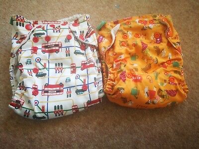 2 xTots Bots Easy Fit v3 poppers reusable nappies.