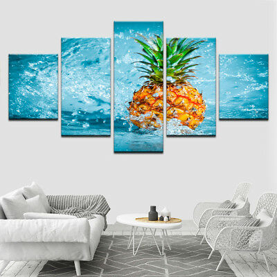 Wall Art HD Prints Cuadros Home Decor 5 Pieces Fruit Frame Canvas Painting