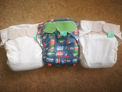 Tots Bots Easy Fit v4 nappies. Includes the extra poppered insert