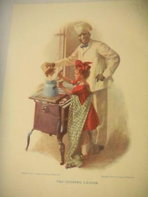 """Original CREAM OF WHEAT Ad """"The Cooking Lesson"""" 1911 CAHILL Pictorial Review Mag"""
