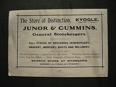 Junor & Cummins General Store Kyogle  Wyangarie