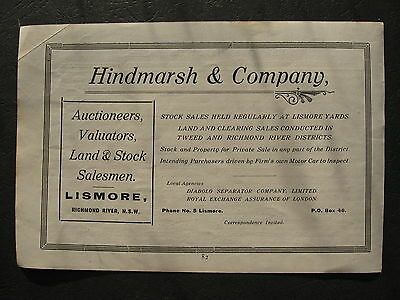Hindmarsh & Company Auctioneer Lismore Richmond River