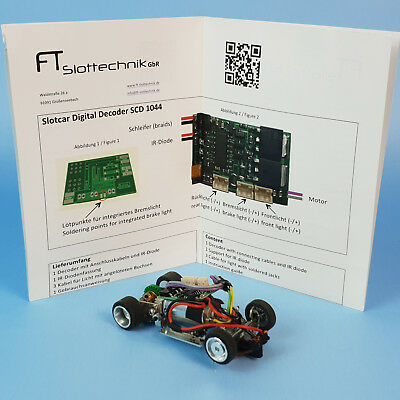 Carrera Digital 143 SlotDevil Metall Chassis 1:43 FT Slottechnik SCD1044 Decoder