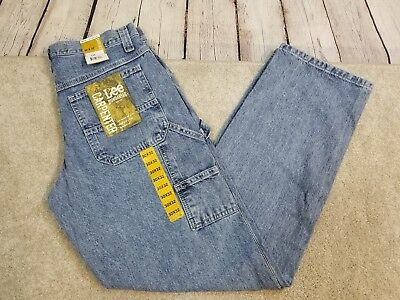 698a03d4 NEW Lee Jeans Mens Dungarees Carpenter Loose Straight Leg 30X32 Retro Stone