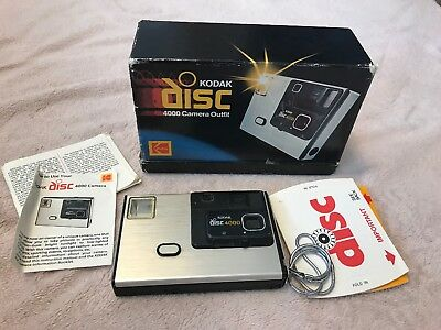 Kodak Disc 4000 Camera Outfit in original box with instructions