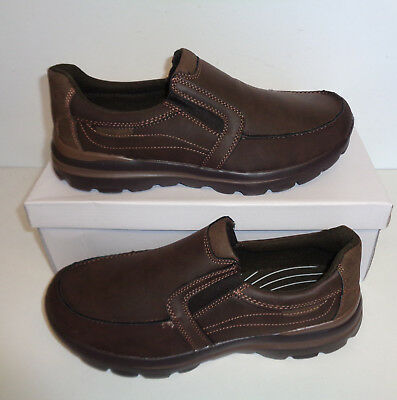 Mens Memory Foam Trainers Walk Pro Brown Slip On Shoes New UK Size 6 7 8 9 10 11