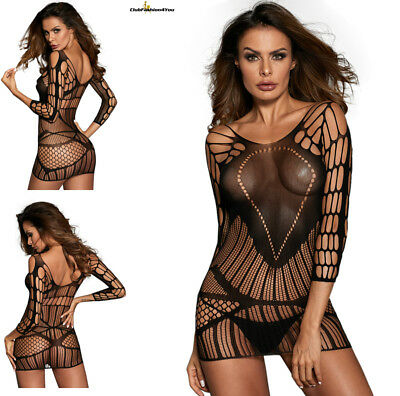Hot Reizwäsche Fishnet Body Stocking Catsuit Netz Body Unterwäsche |H| 31164-2