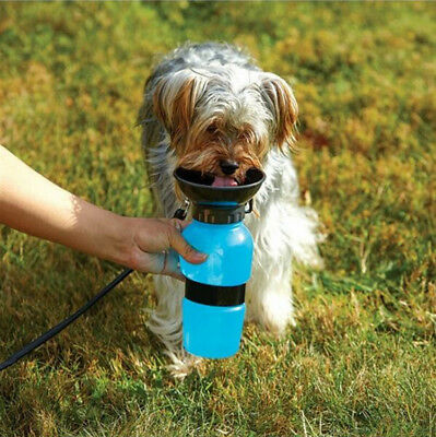 Dog Cat Pet Water Bottle Drinking Mug Cup Puppy Travel Outdoor Portable 500ml