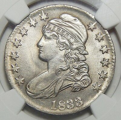 1833 Ngc Ms62 Capped Bust Half Dollar