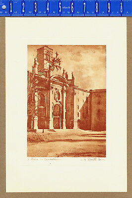 Basilica of the Holy Cross in Jerusalem - Griva Rome Etching