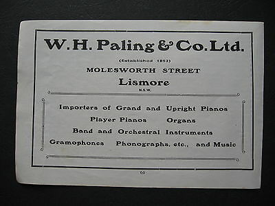 W H Paling & Co Molesworth St Lismore