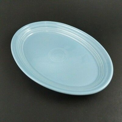 """Fiesta Periwinkle Blue Oval Serving Platter 10"""" Homer Laughlin Table Tray Plate"""