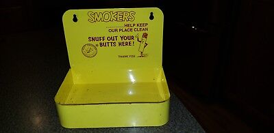 Vintage Mr. Butt Snuffer Hanging Metal Ashtray Smokers Snuff Out Your Butts Here