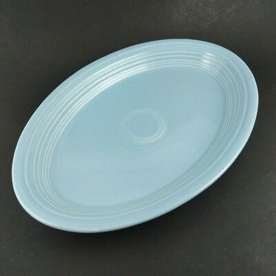"""Fiesta Periwinkle Blue Oval Serving Platter 13"""" Homer Laughlin Table Tray Plate"""