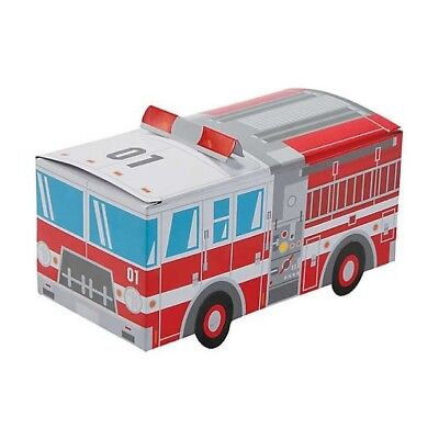 12 Fire Truck Favor Boxes Firefighter Treats Retirement Birthday Party Fun Event