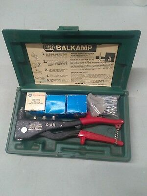 Marson HP-2 KLIK FAST Industrial Rivet Pliers Gun in Napa Balkamp Case + Rivets
