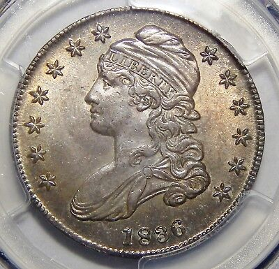1836 Pcgs Ms63 Lettered Edge Capped Bust Half Dollar