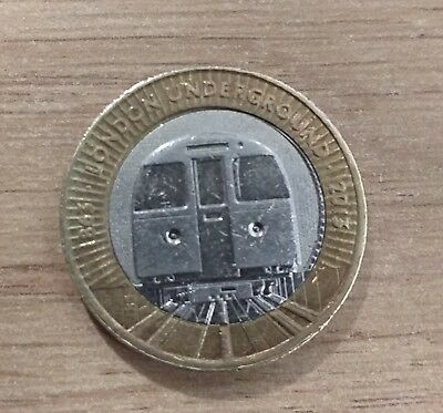 London Underground 2 pound coin