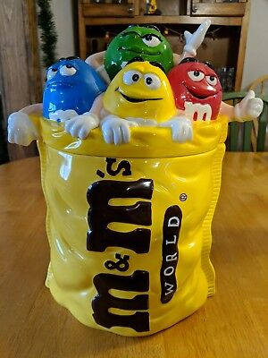 M&M World Characters Ceramic Cookie Jar VERY RARE!!