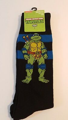 98a291e53f4a 2 PAIRS TEENAGE MUTANT NINJA TURTLES ADULT MENS CREW SOCKS Novelty ...