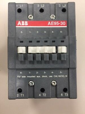 New Abb Ae95-30 Contactor 145 Amp 600V 75Hp W/ Aux Contacts Ae95301183