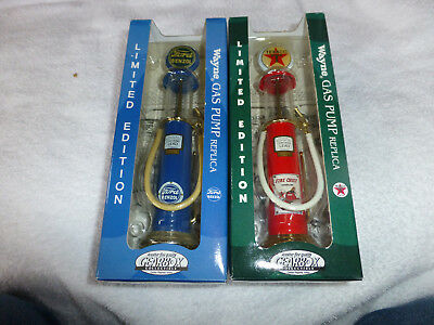 """8"""" Miniature Gas Pumps Benzol And Texaco In Original Packaging"""