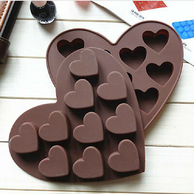 Silicone Ice Cube Tray Easy Pop Maker Heart Shape Cubes Mould Valentines Gift
