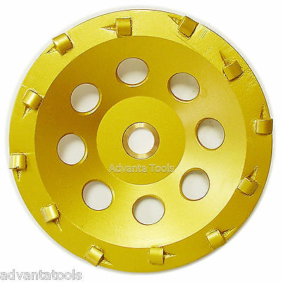 "5"" Quarter Round PCD Grinding Cup Wheel 12 Segments 7/8-5/8"""