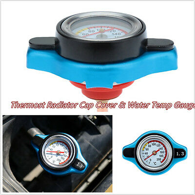 Professional 1.3 Bar Automobiles Thermost Radiator Cap Cover & Water Temp Meter