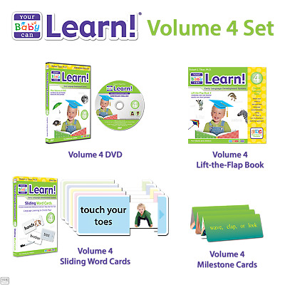 Your Baby Can Learn! English Volume 4 Set (NEW!)