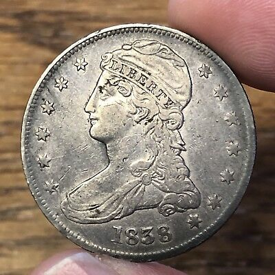 1838 Bust Half REEDED EDGE Original Patina EARLY TYPE Great For The Collection!!