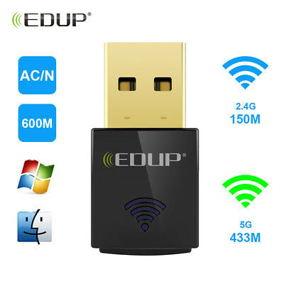 AC600 Dual Band 600Mbps Wireless USB WiFi Network Adapter Card 5Ghz 802.11AC #40