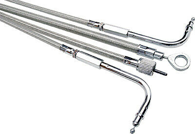 NEW MOTION PRO 66-0372 Armor Coat Stainless Steel Idle Cable with Cruise Control
