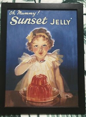 Vintage Sunset Jelly Robert Opie Cooking Kitchen Advertising Poster Ad Print