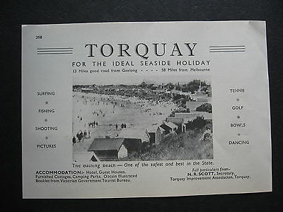 Torquat 1947 TOURIST ADVERT