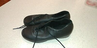Girl's Black Tap Shoes Size 6