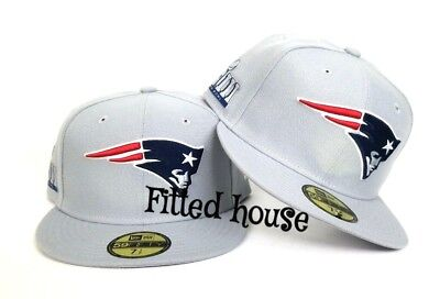 184b2fd0304 Gray New England Patriots New Era Super Bowl LIII Sideline Patch 5950 Fitted  Hat