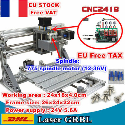 【FRA】DIY 3 Axis 2418 GRBL Control USB Mini Laser Machine Pcb Milling Wood Router
