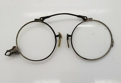 Antique Fold Out Reading/magnifying Glasses Specticals Brass Lorgnette